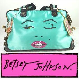 Handbags - BETSY JOHNSON Cheetah Print Marilyn Monroe Duffle